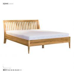 Łóżko dębowe LK291, LK281 Drewmax