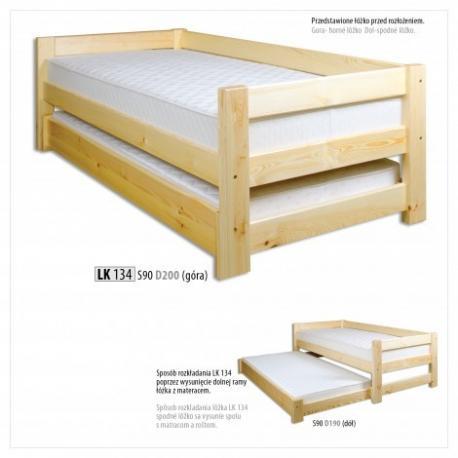 Łóżko sosnowe ŁS134