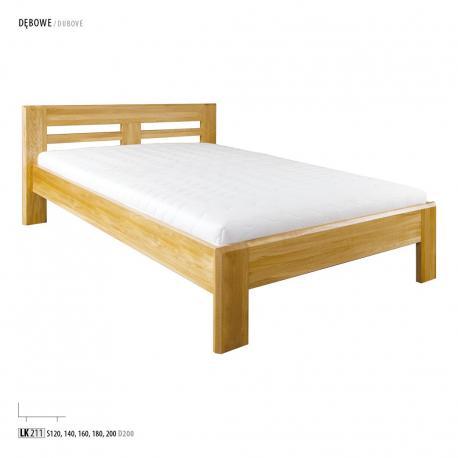 Łóżko dębowe LK211, LK260 Drewmax